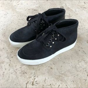 Joie Pony Hair High Top Sneakers 36.5 NEW